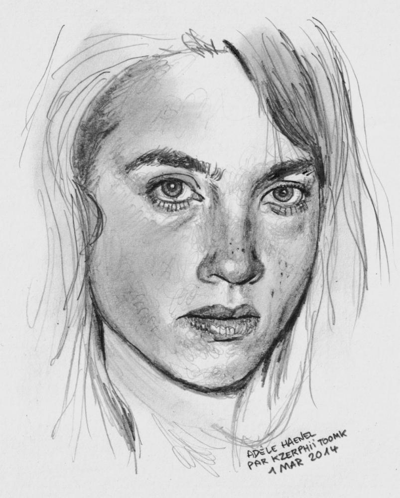 Adèle Haenel by Kzerphii